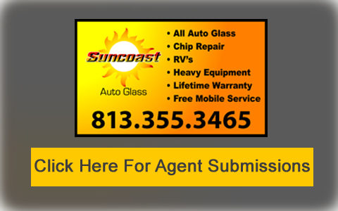 Agent Submissions for Auto Glass Windshield Replacement, Tampa FL